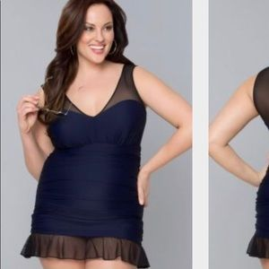 Kiyonna Plus Size 3X Swim Dress